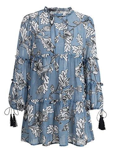 Simplee Apparel - Robe - Femme Bleu