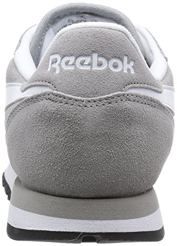 Reebok Classic Leather Suede, Chaussons Sneaker Femme Gris (mgh Solid Grey/white/black/gold Met)