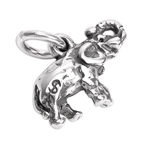 Ciondolo charm a forma di Elefantino in Argento Sterling - Africana Argento Sterling Bracciale