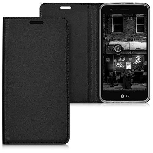 kwmobile Hülle für LG K4 Dual (2017) - Flipcover Case Handy Schutzhülle Kunstleder - Bookstyle Flip Cover Schwarz