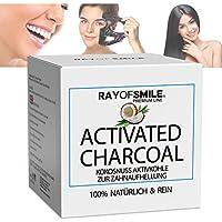 Naturale Premium Carbone Attivo di noce di cocco puro al 100% per sbiancamento dei denti zahnbleaching | Rinfresca l' alito | senza additivi Nocivi | 60G Ray of Smile Premium Line
