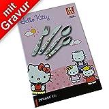 Hello Kitty Kinderbesteck mit Gravur 4tlg. ** Hersteller: ZWILLING J.A. Henckels ** inkl. Namensgravur (Bitte beachten Sie die Hinweise zur Gravur in der Beschreibung) + gratis Glückwunschkarte
