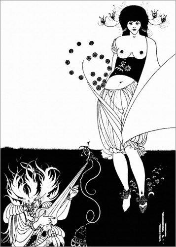 Poster 13 x 18 cm: Salome: Der Bauchtanz von Aubrey Vincent Beardsley - hochwertiger Kunstdruck, neues ()