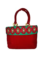 Arisha Kreation Co Women Hand Bag (Red)