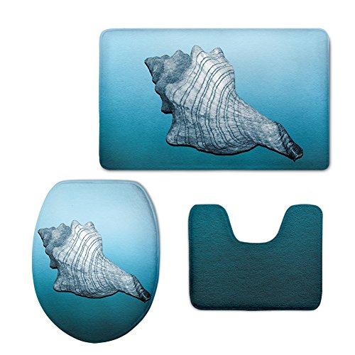 Seesterne Tee (3D-Seestern Teppich Flanell drei Stück WC-Sitz kissen Im Badezimmer, EIN)