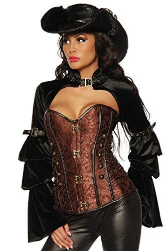 Wow Pirat Kostüm - Samtbolero