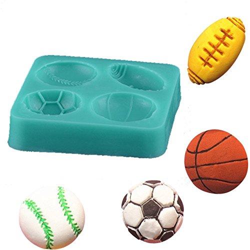 Fußball Basketball Tennis Kochen Tools Silikon Form Fondant Zucker Prozess Form DIY Kuchen Decor