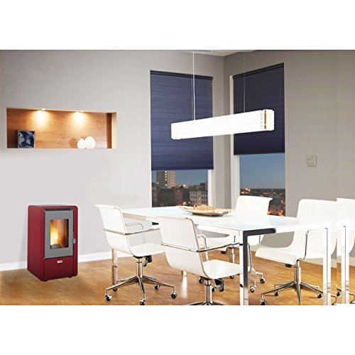 Stufa a pellet 5,8 kw king 6 colore bordeaux made italy