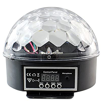 PMS Music Active Crystal Ball LED Stage Lighting Club Disco DJ Party Lights