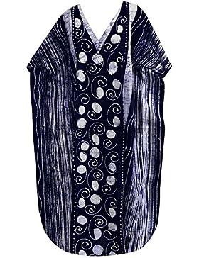 La Leela cotone vestito mano batik beachwear maxi costumi da bagno pigiameria abito caftano evevning