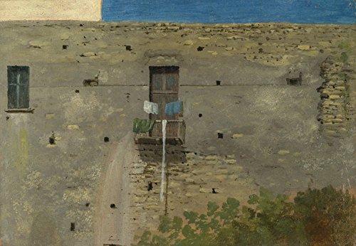 Das Museum Outlet-Thomas Jones-Eine Wand in Neapel-Leinwanddruck Online kaufen (61x 81,3cm)