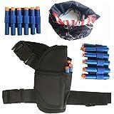 GFU 1pc Cintura-bag + 2pcs muñeca + 20pcs azul dardos + Mascarilla facial Tubo de Nerf pistola de juguete N-Strike Elite