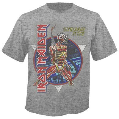 Rocks-off IRON MAIDEN - Somewhere in time Grau T-Shirt (L) (Blast T-shirt Off)