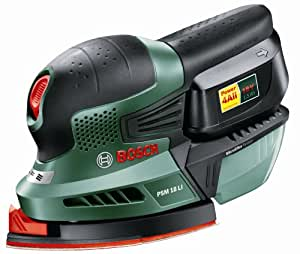 Bosch PSM 18 LI Cordless Lithium-Ion Multi-Sander with 1 x 18 V Battery, 1.5 Ah