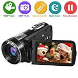 Camcorder Video Camera 1080p Full HD Camcorder Camera 24.0MP 18x Digital Zoom 3.0