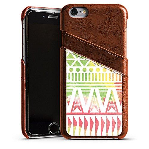 Apple iPhone 5 Housse Outdoor Étui militaire Coque Motif Motif couleurs Étui en cuir marron