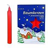 Creleo 890061-5 para el árbol de Navidad con forma de vela, 60 pcs, 15 x 125 mm, colour rojo