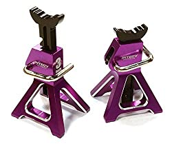 Integy Rc Hobby C26410 Purple Realistic Model 3 Ton Jack Stands (2) For 1/10, 1/8 Scale & Rock Crawler