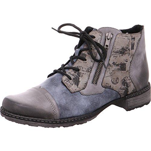 Remonte D4378 Damen Stiefeletten, Stiefel, Boots Blau