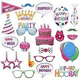 Rozi Decoration® 817 Happy Birthday Photo Booth Props Funny Birthday Decor for Celebrating Birthday Party Decorations Photobo