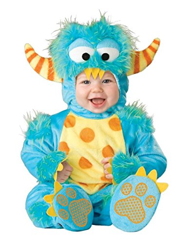 Kuscheliges Baby-Monster Kostüm türkis Gr. 68/74 (Monster De Halloween High Costume)