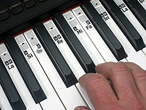 KEYNOTES Do-Re-Mi Autocollant de Piano et Clavier - Stickers Apprenez Musique Jouer Éducation Clé Note - 52 Étiquettes Solfège System.