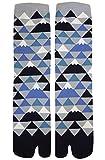 Herren Tabi Socken Zehensocken viele Mount Fujis