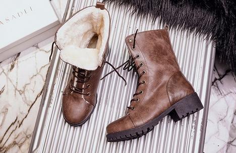 &ZHOU Bottes d'automne et d'hiver courtes bottes femmes adultes Martin bottes Chevalier bottes A32 Brown