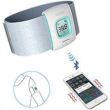 Entrada de auriculares para bebés, ivencase Novelty Bluetooth Smart termómetro inteligente Monitor para bebés (color/azul claro)