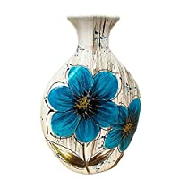 Darthome Ltd Blue Ceramic Modern Wedding Display Table Decorative Poppy Flower Floral Vases