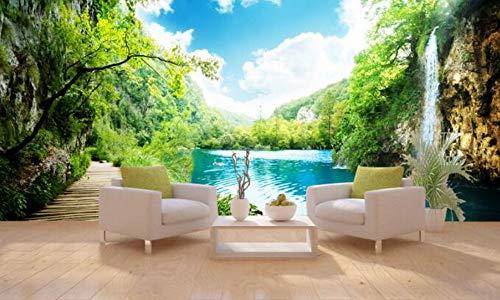 HHCYY Deluxe Large Falls View Panorama-Tapeten für Wohnwand-Tapeten-120cmx100cm