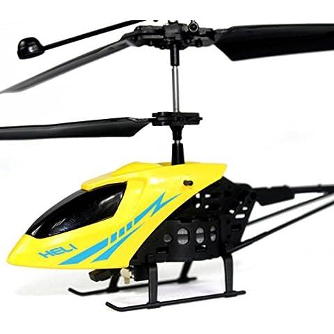 Switchali RC 901 2CH mini helicóptero del rc radio control remoto de aviones de control micro de 2 canales (Amarillo)