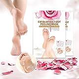 Peeling Socken, LuckyFine Fußpeeling Maske + nahrhafte Fußmaske ( Fußhaut weichen Roseextrakt...