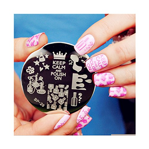 Born Pretty Plaque De Stamping Nail Art Vernis A Ongles Keep Calm And Polish On BP29