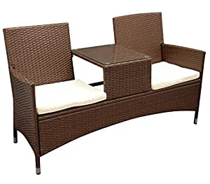 gartenmoebel einkauf tete tete bank san vincenzo 2 sitzer stahl polyrattan. Black Bedroom Furniture Sets. Home Design Ideas