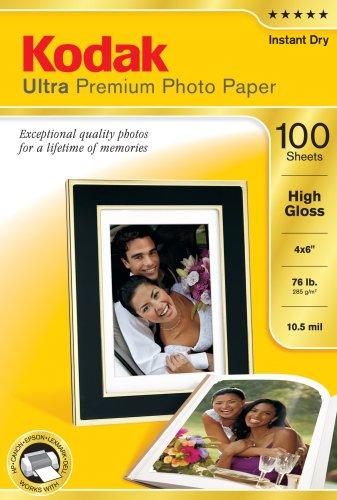 Kodak 850514110,2cm x 15,2cm ultra premium photo paper high gloss (100fogli)