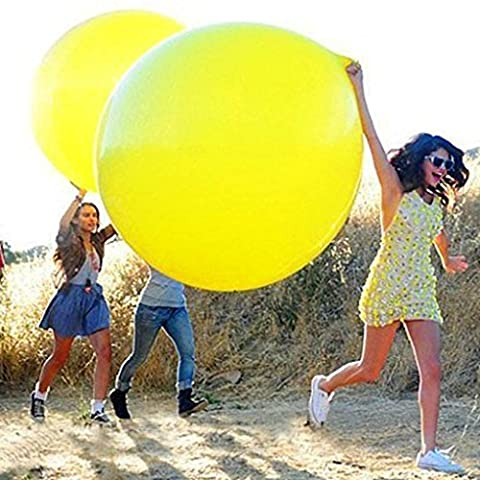 Gogogo 1X 36 inch Latex Huge Balloon for Outdoor Wedding Party Birthday Festival Decor (Yellow)
