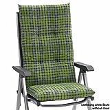 4 Kettler Auflagen Dessin 791 fuer Hochlehner 120 x 48 cm gruen 8 cm dick (ohne Stuhl)