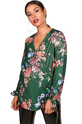 vert Femmes Maternité Hannah Top à imprimé épais Vert