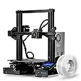 SainSmart x Creality Ender-3 3D-Drucker mit PRO-3 Verwicklung-Free Premium 1,75 mm Weiß PLA, Lebenslauf Drucken V-Slot Prusa i3, für Home & School Verwendung, Build-Volumen 8,7