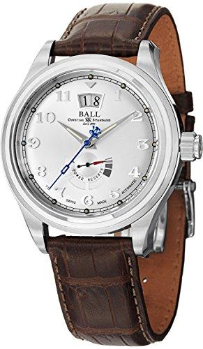 Palla da uomo pm1058d-l1j-sl Trainmaster Cleveland analogico display svizzero orologio automatico marrone