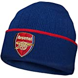 Arsenal FC Official Football Gift Knitted Bronx Beanie Hat Crest
