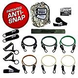 Bodylastics MAX XT Warrior Edition Bandes de résistance Ensembles avec 6 tubes d'exercice ANTI-SNAP, composants lourds et ressources pédagogiques.