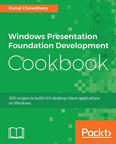Windows Presentation Foundation Development Cookbook: 100 recipes to build rich desktop client applications on Windows (English Edition)
