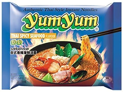 Instant Nudeln mit THAI SPICY SEAFOOD Geschmack, 2er Pack (2 x 70 g) (Thai Nudeln)