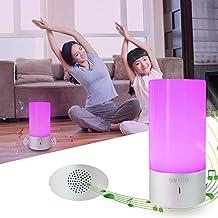 DMYCO Lampada Comodino, Lampa da Tavolo All-in-1 Altoparlante Bluetooth,Luce Notturna