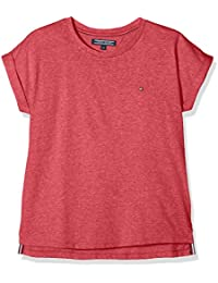 Tommy Hilfiger Mädchen T-Shirt Essential Roll up Sleeve Knit S/S