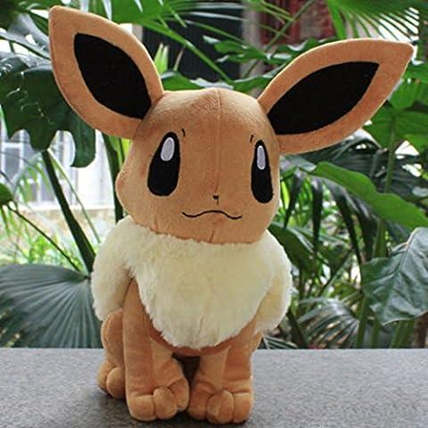 2 Pcs Pokemon Eevee juguete de felpa suave de 8.5