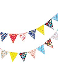 Befaith 2.5m Papier coloré Joyeux anniversaire Floral Flag Party Celebration Décoration Enfants