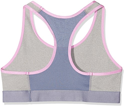 Under Armour Mädchen Bustier and Top Logo Armour Bra Fitness-Bustiers & Tops, Mehrfarbig True Grey Heather